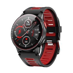 L6 Смарт-часы для мужчин с круглым экраном, пульсометр, мужские часы, браслет, контроль давления, умные часы для женщин, спортивные принадлежн...