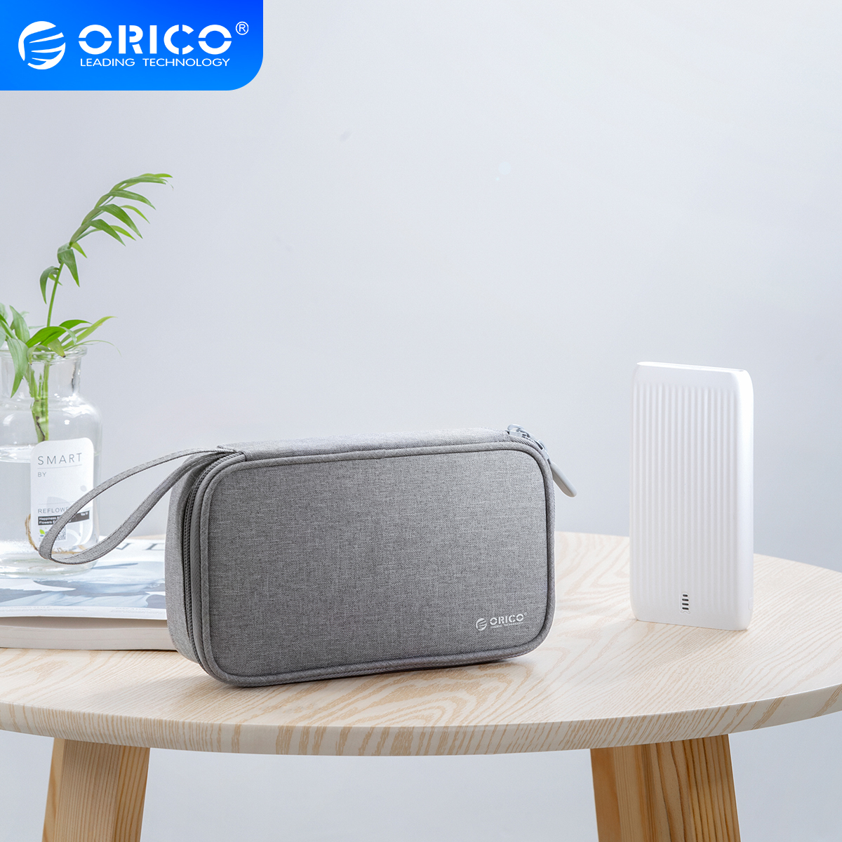 ORICO Cable Organizer Bag Travel Electronic Accessories Carrying Case for USB, Charger, Power Bank Storage Bag Box