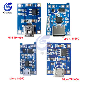Type-c Micro Mini USB 5V 1A Lithium-ion Battery Charger Module USB Adapter Over Charge Discharge Protection Module 18650 TP405 image