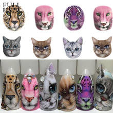 1 Sheets Nail Sticker Sexy Designs Anger Cat/Tiger/Leopard Slides for Water Transfer Temporary Tattoo Nail Decor CHSTZ455 501