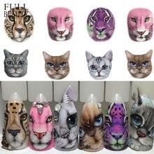 1 arkusze naklejka do paznokci Sexy wzory gniew kot/tygrys/Leopard slajdy do transferu wody tymczasowy tatuaż zdobienie paznokci CHSTZ455 501