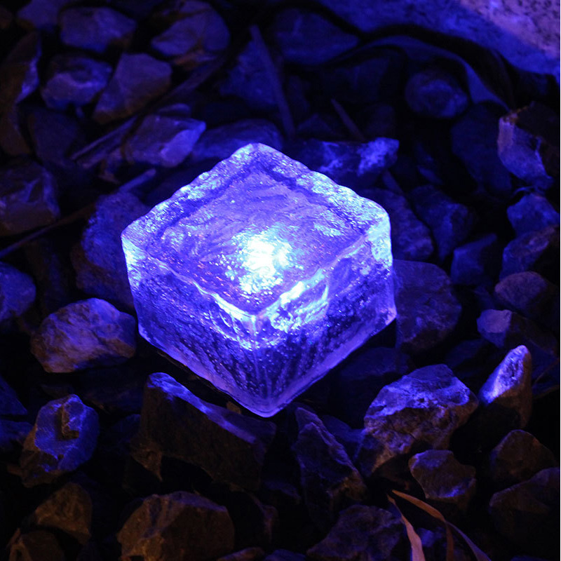 sloar tijolo luzes de vidro fosco tijolo pavimentar jardim paisagem caminho luz a prova dwaterproof agua