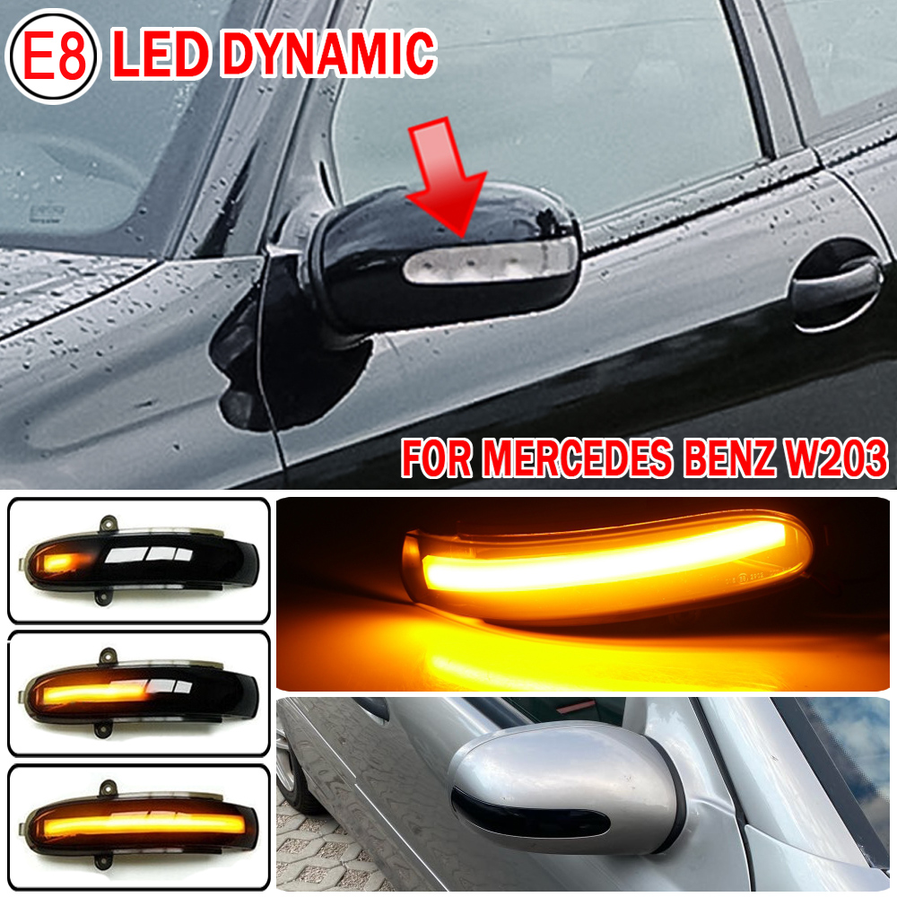 Sinal de volta dinâmico led espelho lateral indicador blinker luz sequencial para mercedes benz c classe w203 s203 cl203 2001 2007|Lâmpada de sinal|   -