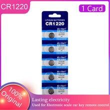 5 pces/cartão cr1220 bateria de lítio 100% original 3v cr1220 relógio remoto celular substituir ecr1220 br1220 lm1220 dl1220 para a pilha da moeda