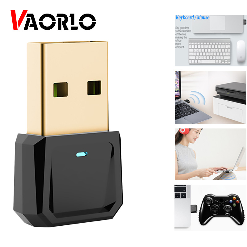 VAORLO Dongle USB 5.0 Audio Transmitter For Printer Gamepad Mouse Keyboard Stable Connect Wireless Adapter Android Phone