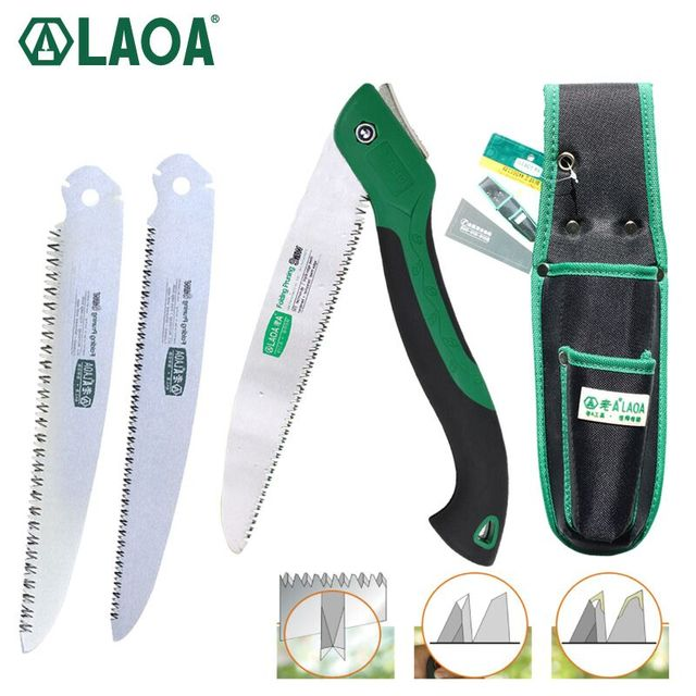 LAOA Portable Folding Saw 7T/12T Hand Saw 250mm Pruning Shears Serra Gardening Tool Hunting Implement 3