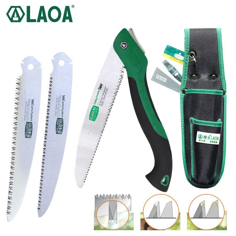 LAOA Portable Folding Saw Hand Saw 250mm Pruning Shears Serra Gardening Tool Hunting Implement