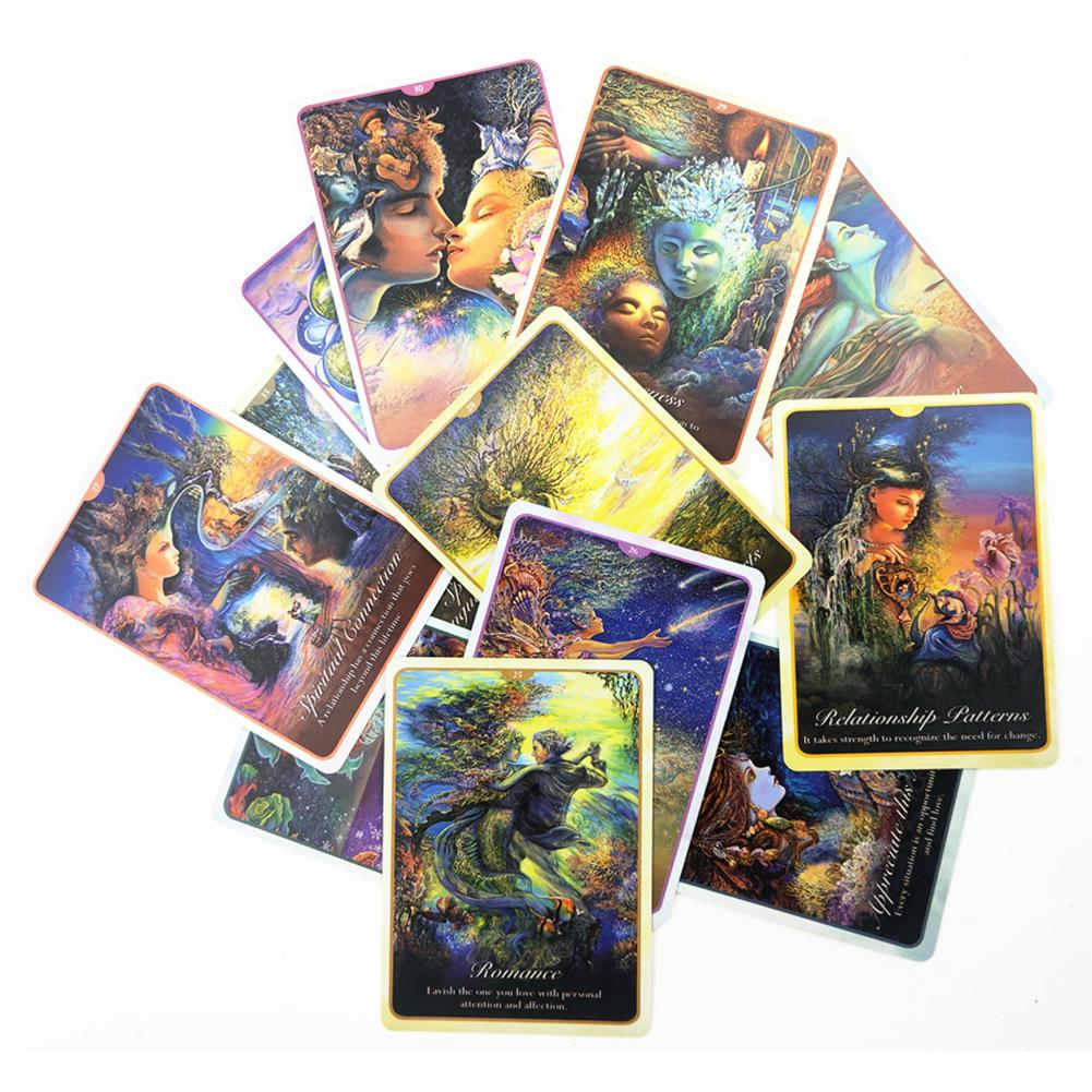 50pcs Whispers Of Love Oracle Tarot Cards Full English Deck Board Games Cards For Party Game