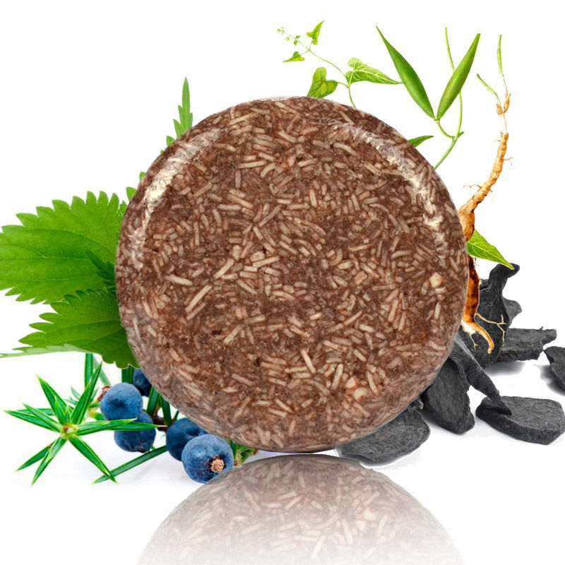 Organische Hair Darkening Shampoo Bar Oil Control Nourishing Moisturizing Soothing Cleaning Seife 100% Erfrischende Antischuppen