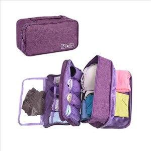Image 1 - Organizador de ropa interior para sujetador, organizador de cajones, divisores de almacenamiento de viaje, caja, bolsa, calcetines, estuche de tela, ropa, armario, accesorios, suministros