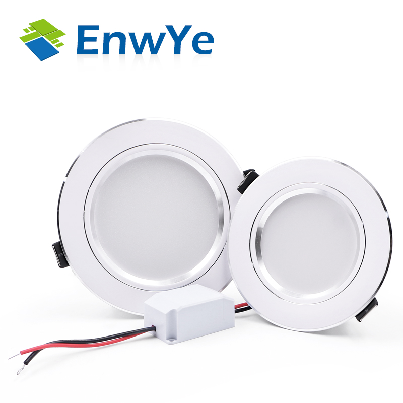 EnwYe 4PCS LED Downlight Ceiling IC LED Driver 5W 9W 12W 15W 18W Warm White/cold White Led Light AC 110V 220V