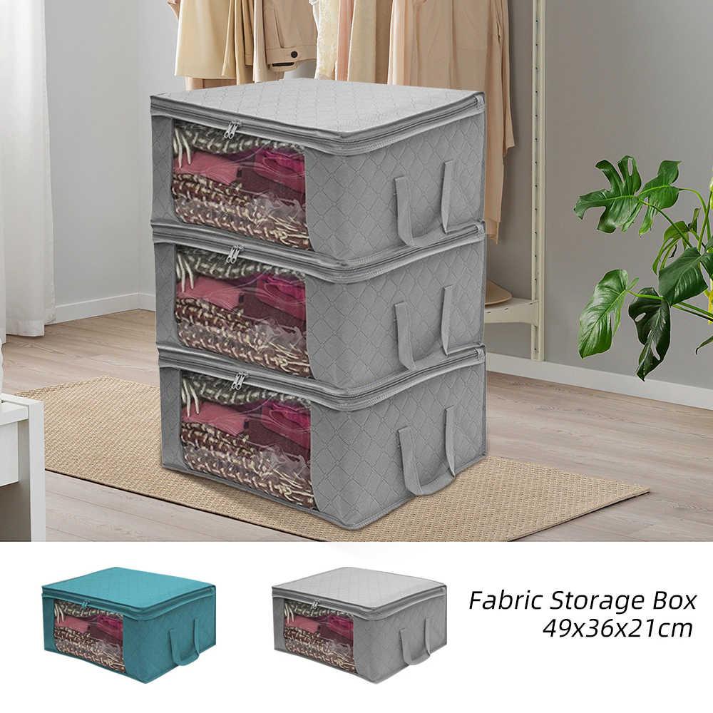 Tragbare Falten Lagerung Box Schmutzige Kleidung Sammeln Fall Vlies Stoff Mit Zipper Feuchtigkeit-beweis Spielzeug Quilt Lagerung Box Neue