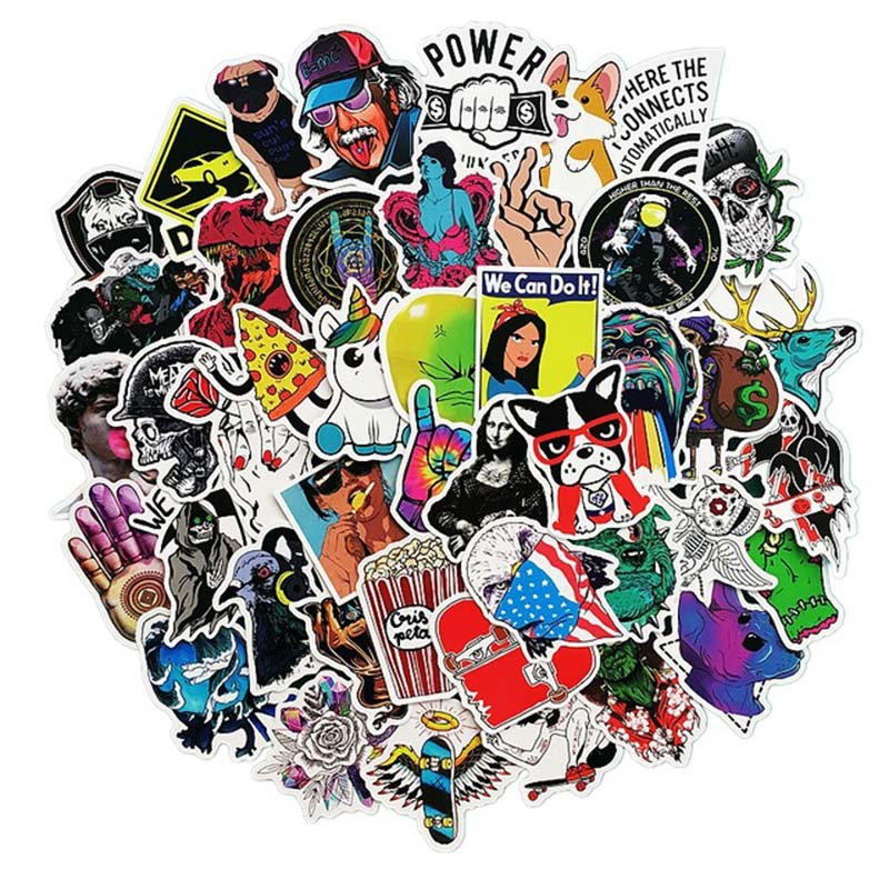50 Pcs Mixed Cartoon Toy Stickers for Car Styling Bike Motorcycle Phone Laptop Travel Luggage Cool Funny Sticker Bomb JDM Decals(China)