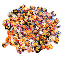 50/100pcs Fall Dog Hair Bows Halloween hair Accessories Pumpkin Skull Grooming dogs bows Autumn Pet Products