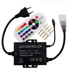 220 В 110 1500 Вт led rgb контроллер 24 клавиши ИК пульт дистанционного