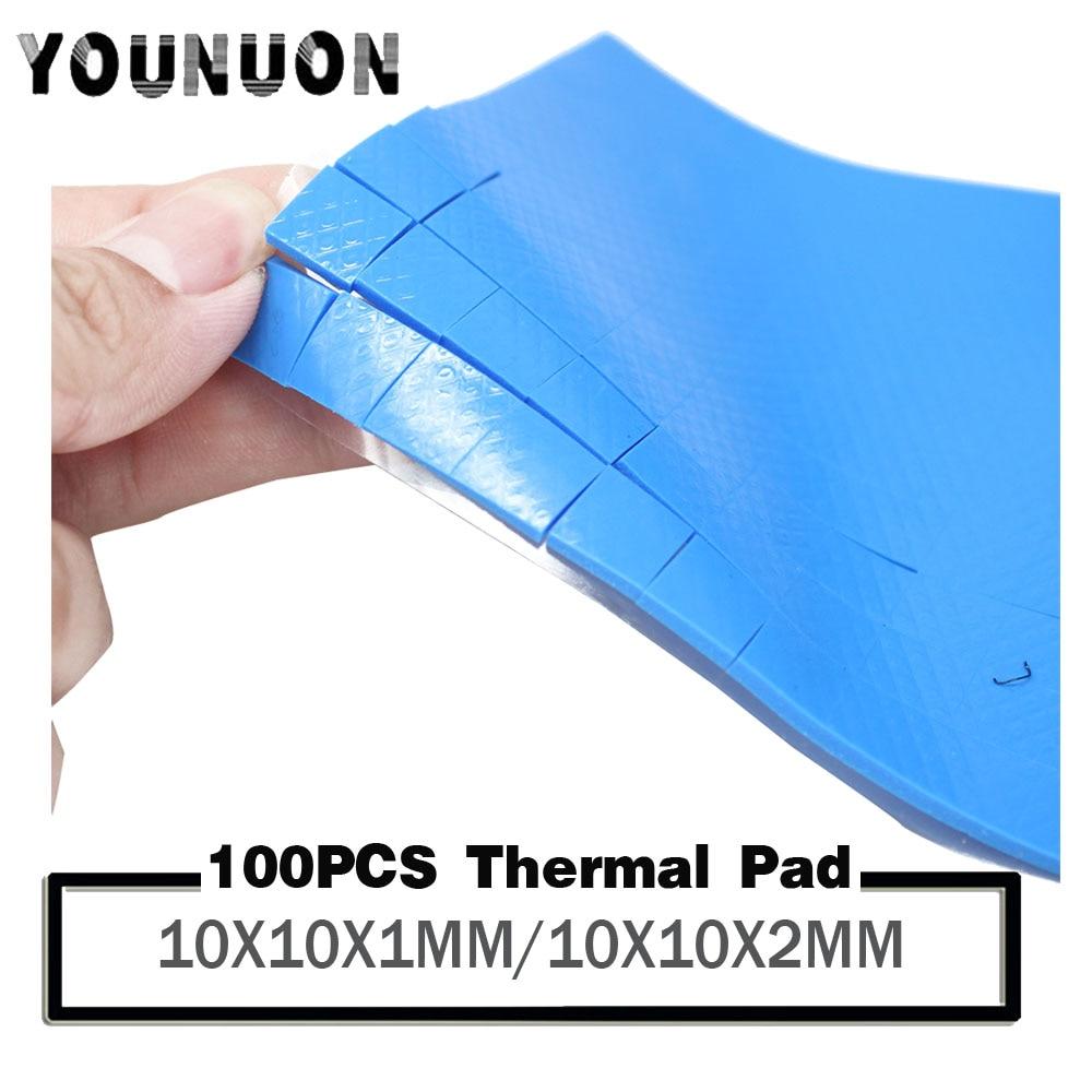 GPU CPU Heatsink Cooling Thermal Conductive Silicone Pad 100mm*100mm*2mm SU