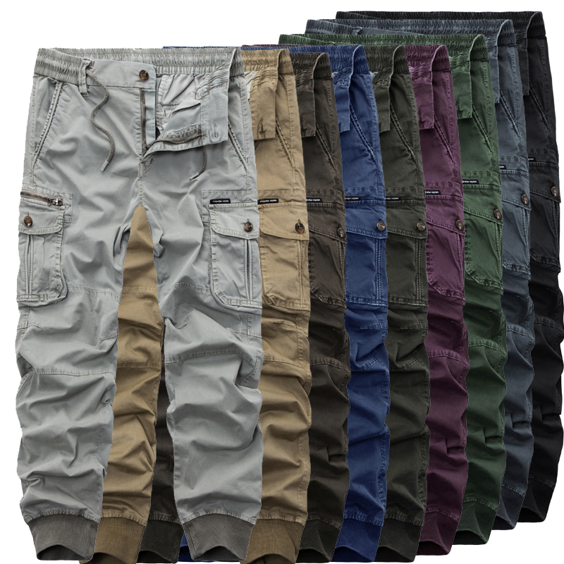 9 Color Classic 2019 Free Shipping New Men's Cargo Pants Fashion Multipocket Cotton Casual Tooling Pant Plus Size 29-38