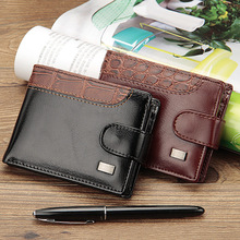 Baellerry Leather Vintage Men Wallets Coin Pocket Hasp Small