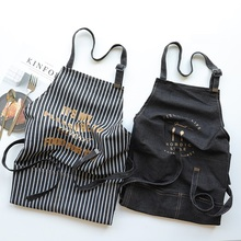 Cooking denim Kitchen Apron For Woman Men Chef Cafe Shop BBQ Aprons Baking Restaurant Pinafore bib Direct Wholesale