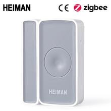 HEIMAN Zigbee interruttore magnetico per Porte e finestre Rivelatore allarme del sensore per la casa intelligente di allarme di Sicurezza casa