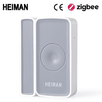 HEIMAN Zigbee magnetic switch Door window Detector sensor alarm for smart house Security alarm home hall magnetic sensor switch module for smart car