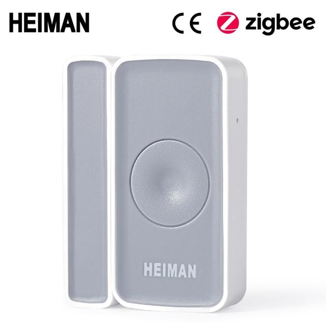 HEIMAN Zigbee magnetische schalter Tür fenster Detektor sensor alarm für smart haus Sicherheit alarm hause|Sensor & Detektor|   -