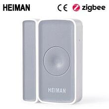 היימן Zigbee מתג מגנטי דלת חלון גלאי חיישן אזעקה לבית החכם אבטחת אזעקת בית