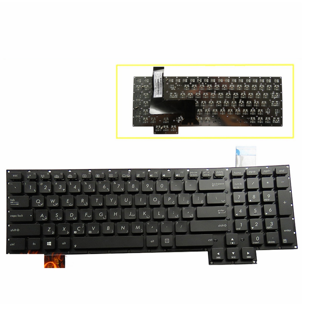 Russian Laptop Keyboard For Asus G750 G750JH G750JM G750JS G750JW G750JX G750JZ RU Black Keyboard