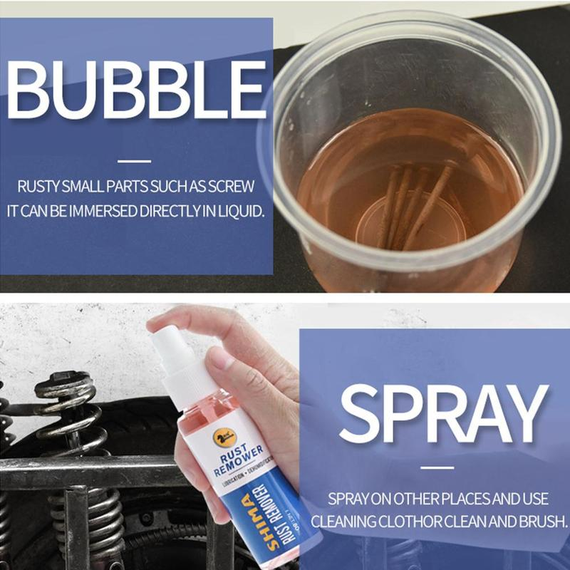 Rust remover spray - metal surface