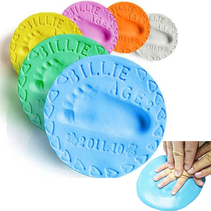 30g DIY Baby Footprint Dry Air Soft Clay Infant Hand Child Growth Record Souvenir Footprint Mud Multicolor Optional Baby Toys