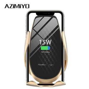 Image 1 - AZiMiYO 15W Wireless Car Charger Automatic Clamping phone Holder For iPhone 11 Pro xr Huawei Samsung Smart Phone