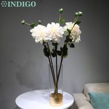 INDIGO -5pcs Pink Dahlia Spray Big Daisy Gerbera Wedding Table Flower Artificial Floral Event Party Free Shipping