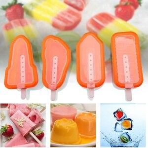 4 шт. Силиконовое мороженое эскимо формы силиконовые нетоксичные эскимо инновационные милые домашние палочки мороженого