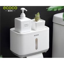 Paste Paper Towel Holder Waterproof Bathroom Wall Mounted Kitchen for Dispenser Tissue Box Shelf
