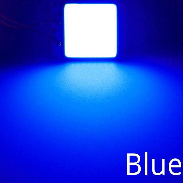 Белый, красный, синий T10 W5w Cob 24SMD 36SMD Автомобильный светодиодный панельный светильник для автомобиля, лампа для чтения в салоне автомобиля, купольная гирлянда BA9S DC 12v - Испускаемый цвет: Синий