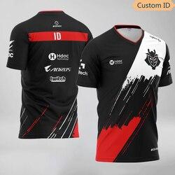G2 Esports Team Uniform T Shirt Top Quality Custom ID Jersey 2020 LOL CSGO Gaming Player Tee Shirt Customized Name Fans Tshirt