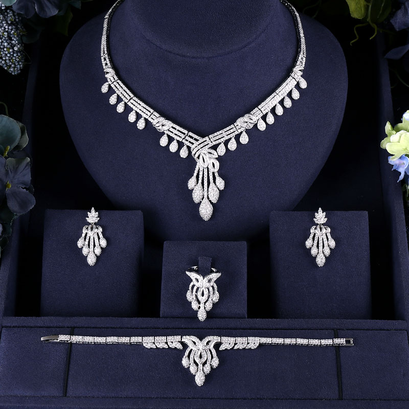 H4a25f55899764b14be364ca24958271bJ jankelly Hotsale Nigeria 4pcs Bridal Jewelry Sets New Fashion Dubai Full Jewelry Set For Women Wedding Party Accessories Design