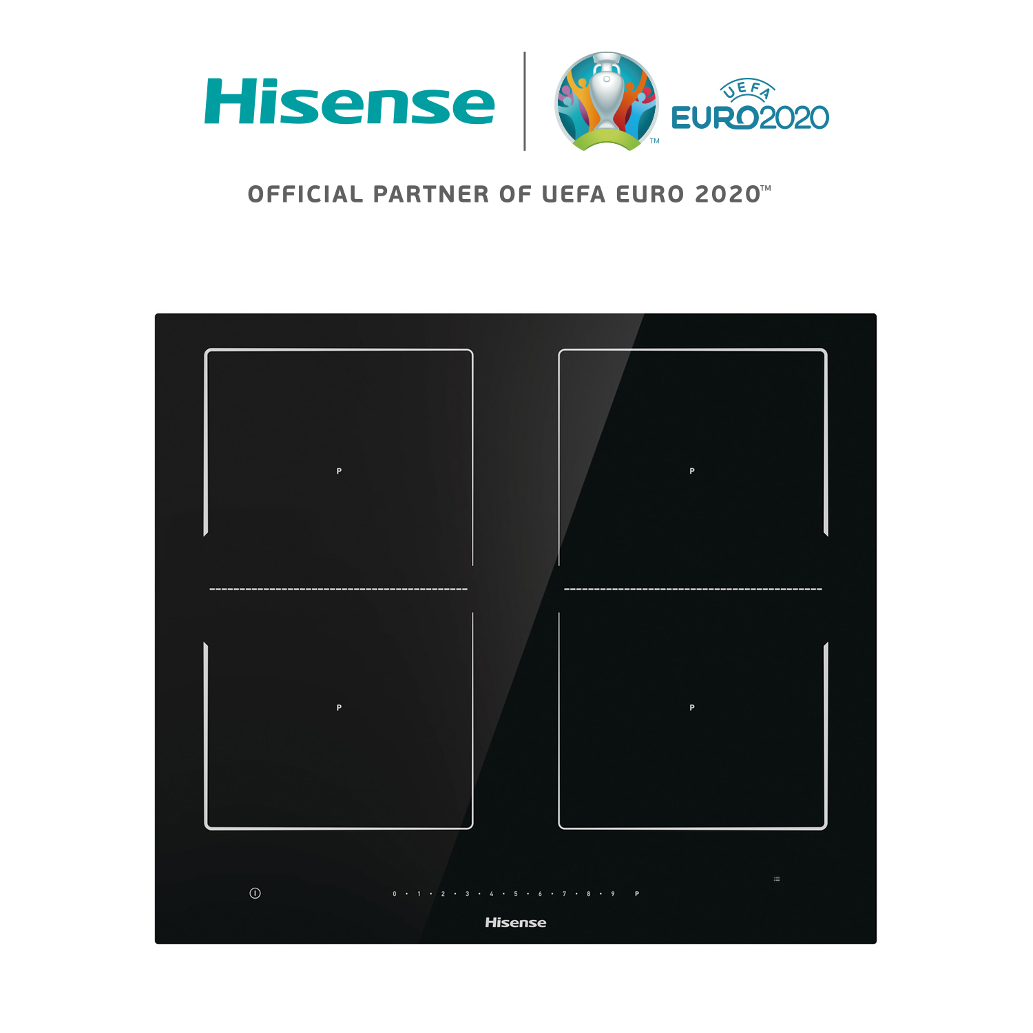Hisense I6456C induction cooker, 4 burners, ceramic glass, 7360W, touch Control, 59,5 × 5,4 × 52 cm