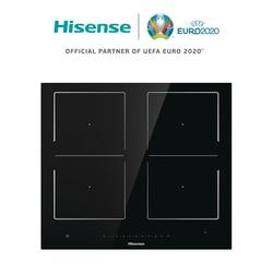 Hisense i656c индукционная плита, 4 горелки, керамическое стекло, 7360 Вт, сенсорное управление, 59,5 × 5,4 × 52 см