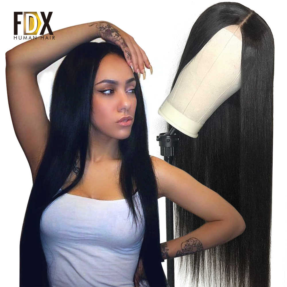 250 density long Wig 30 32 34 36 38 40 inch 360 Lace Front Human Hair Wigs With Baby Hair Brazilian Remy 13*6 Lace Frontal Wig
