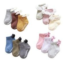 3 пары/партия носки унисекс для детей с кружевной отделкой и