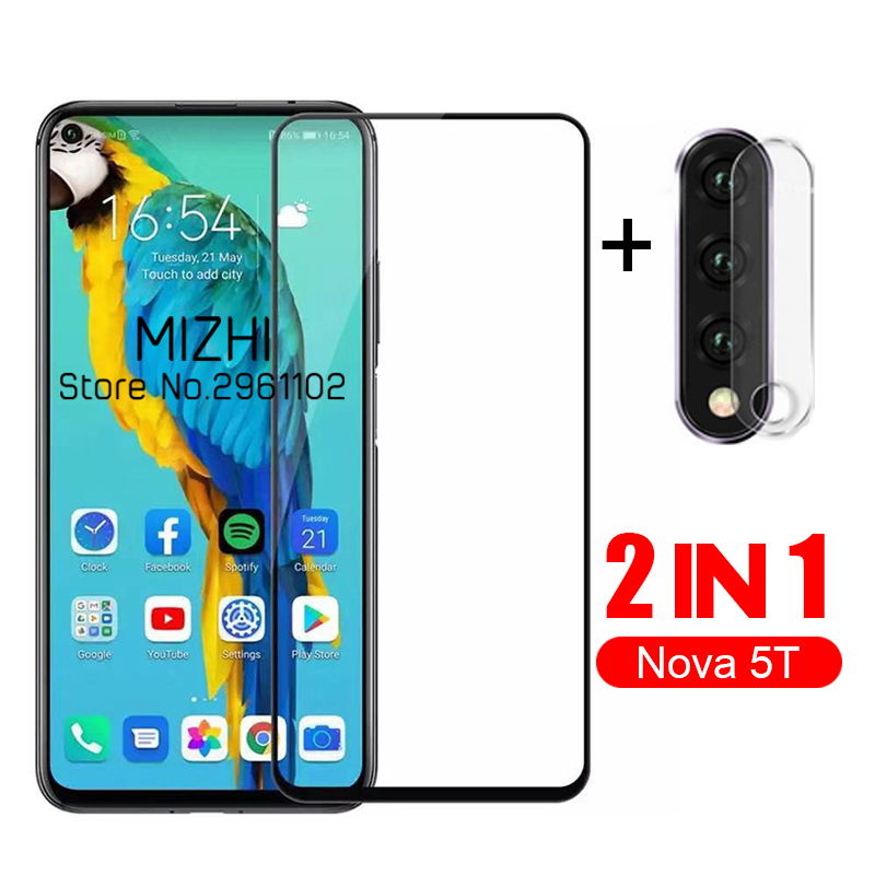 2 In 1 Protective Glass For Huawei Nova 5t Camera Lens Screen Protector For Huawei Nova 5 T T5 Huwei Nova5t 6.26'' Glass Film
