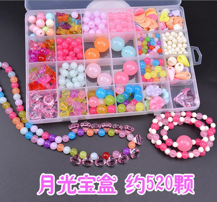 Early Childhood Fun Educational Weak Sight Necklace Handmade CHILDREN'S Toy Accessories Threading GIRL'S DIY Beaded Bracelet Sub