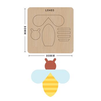 SMVAUON notatnik Die Cut Cute Bee DIY handmade nowe matryce do 2020 drewniany szablon do wycinania formy do wykrawania drewna Die tanie i dobre opinie Zwierząt Laser mold