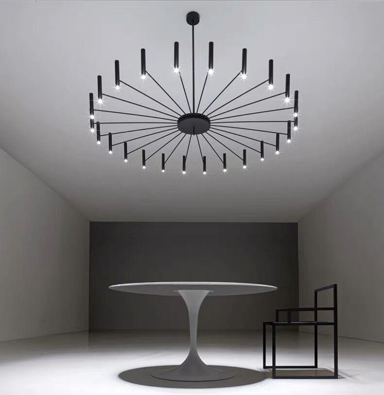 Современный дизайнерский светильник-люстра, простой железный подвесной светильник для дома, гостиной, спальни, столовой, светильники