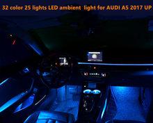 32 couleurs 25 lumières 32 couleurs 21 lumières LED lumière ambiante atmosphère intérieure lumière pour A5 2017 UP