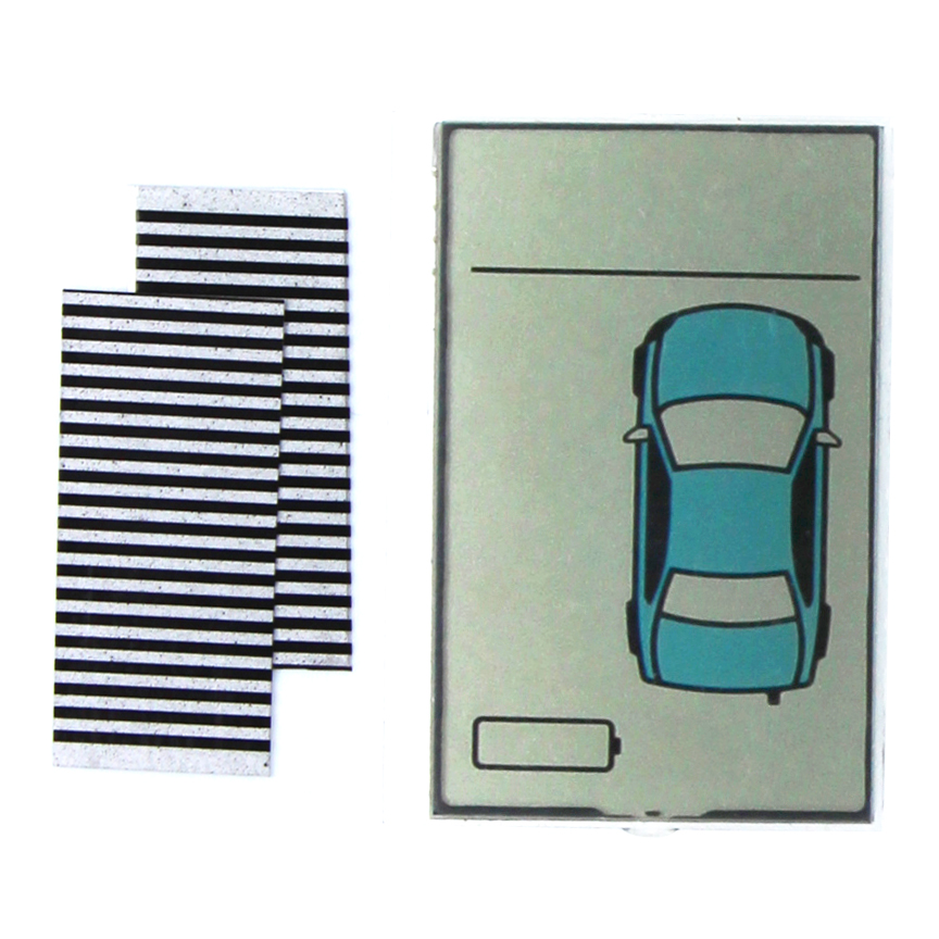 Flexible Cable Russia version ZX925 lcd display for Sheriff ZX-925 Zebra Stripes lcd remote two way car alarm system