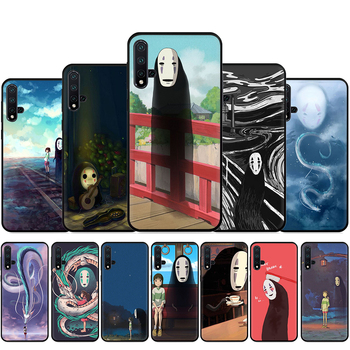 Cute Spirited Away Ghibli Miyazaki Silicone Phone Case For Huawei Nova Lite 2 Lite 2i 3 3i 4 4E 5i 5T 7 7SE Back Cover image