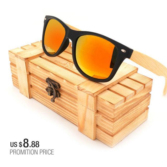Mens Sunglasses BOBO BIRD Bamboo Legs Polarized Lens Sun Glasses Women Men with Wood Gift Boxes Colors Sunglasses for Him OEM