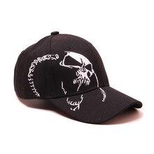 Alta qualidade unisex 100% algodão boné de beisebol ao ar livre crânio bordado snapback moda esportes chapéus para masculino & feminino